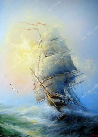 Картина Морской пейзаж  - фото