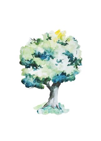 Постер Дерево нарисованное  - фото