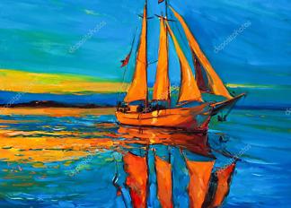 Картина Закат на море  - фото