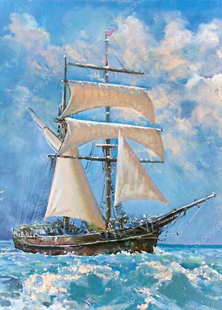 Картина Корабль  - фото