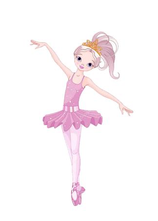 Постер Мультяшная балерина  - фото