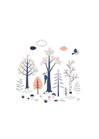 Постер Осенние деревья  - фото