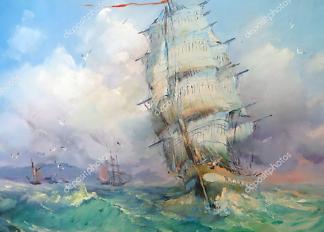 Картина Большая волна  - фото