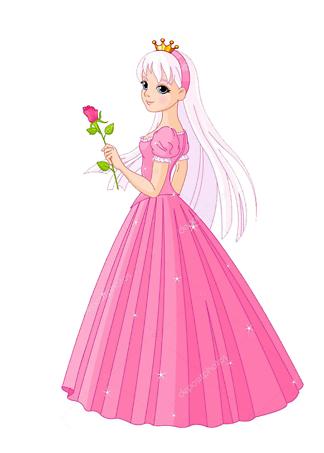 Постер Принцесса с розой  - фото