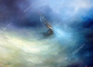 Картина Большой шторм  - фото