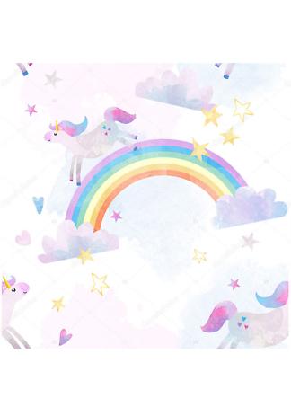 Постер Единорог на радуге  - фото