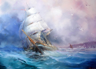 Картина Морская живопись  - фото
