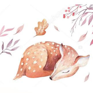 Постер Акварельный олень -1