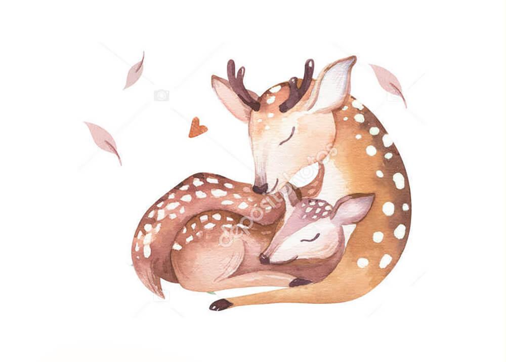 Постер Акварельный олень -2  - фото