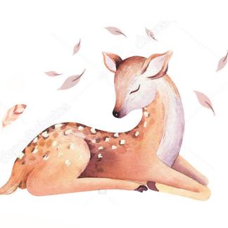 Постер Акварельный олень -3