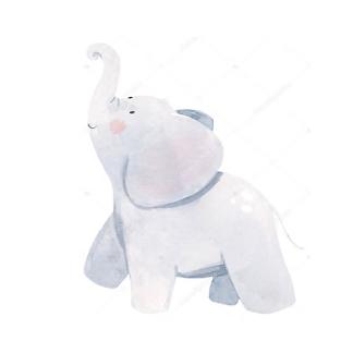 Постер Акварельный слоник