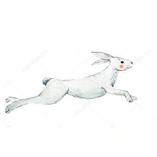 Постер Акварельный заяц -1