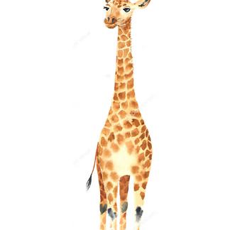 Жираф в круглых очках