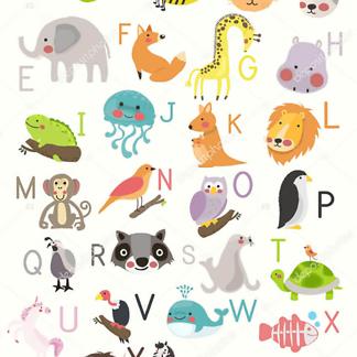 Постер Алфавит с животными  - фото