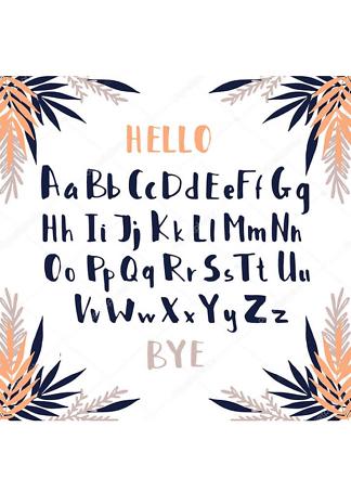 Постер Алфавит тропики  - фото