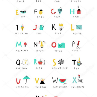 Постер Английский алфавит