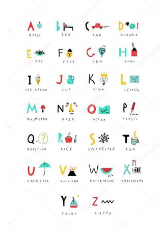 Постер Английский алфавит  - фото