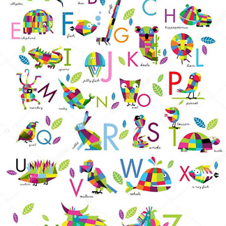 Постер Английский алфавит для детей
