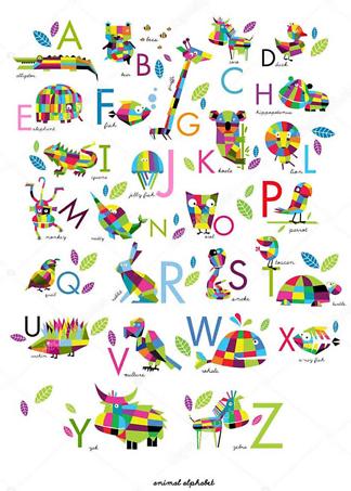 Постер Английский алфавит для детей  - фото