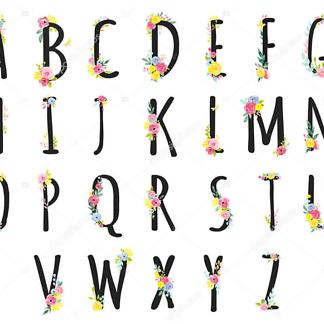 Буквы из игрушек