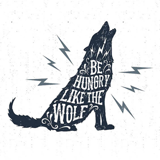 Постер Be hungry like the wolf  - фото