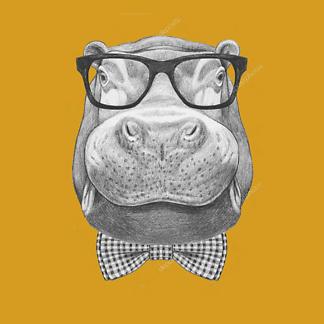 Постер Бегемот в солнечных очках