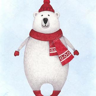 Постер Мама с медвежонком Тедди