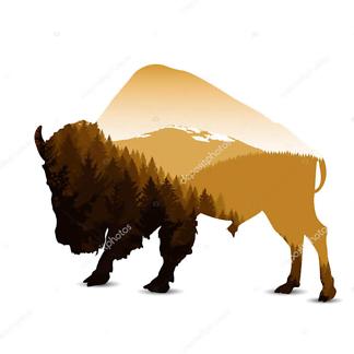 Бизон и горы