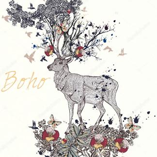 Постер Boho deer