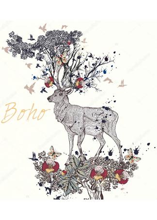 Постер Boho deer  - фото