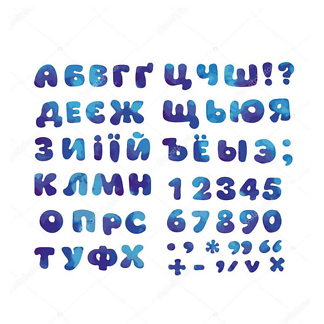 Постер Английский алфавит с цветами