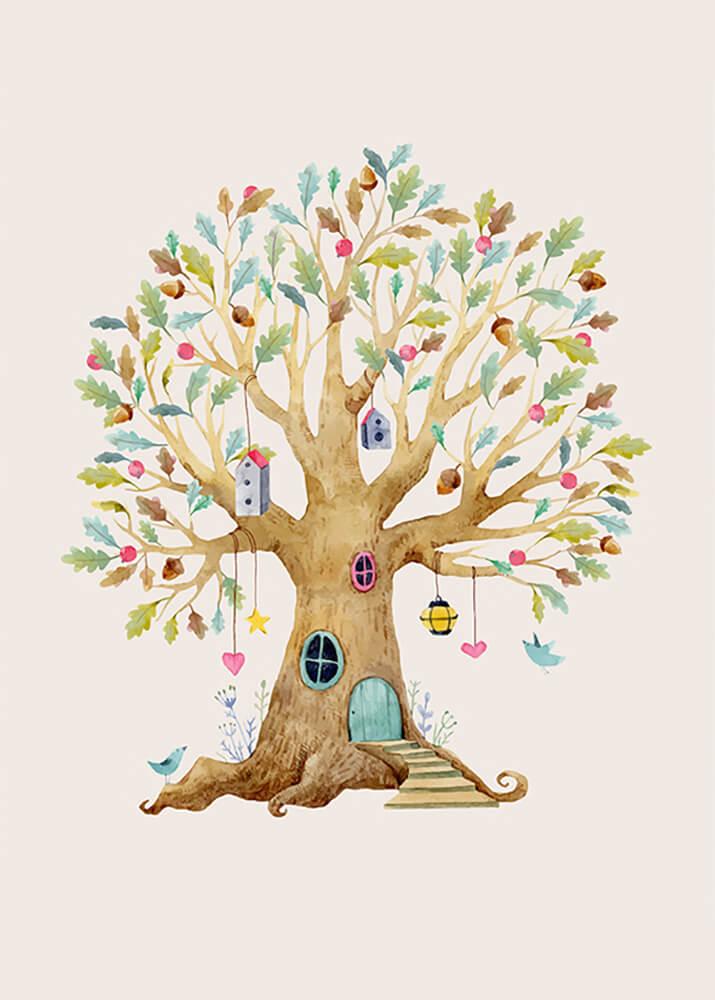 Постер Дерево-домик-1  - фото