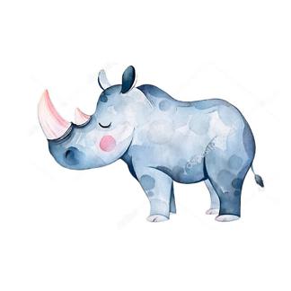 Постер Носорог детский