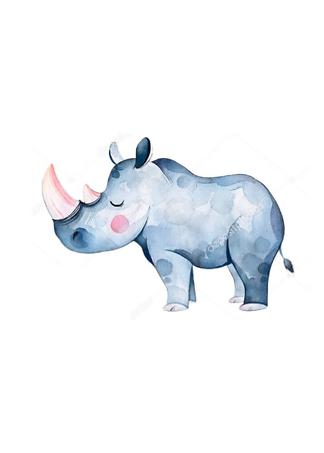 Постер Носорог детский  - фото