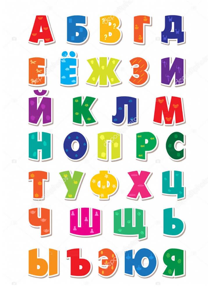 Постер Детский русский алфавит  - фото