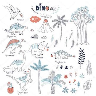 Постер Динозавры и природа