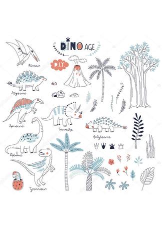Постер Динозавры и природа  - фото
