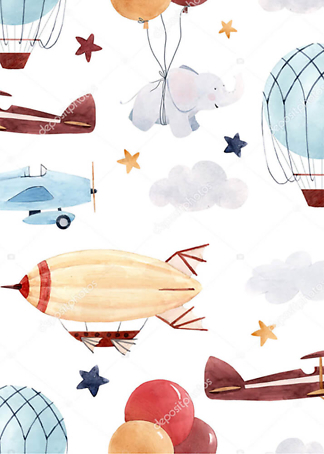 Постер Дирижабли и самолеты  - фото
