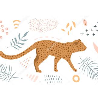 Постер Графика ягуар -1
