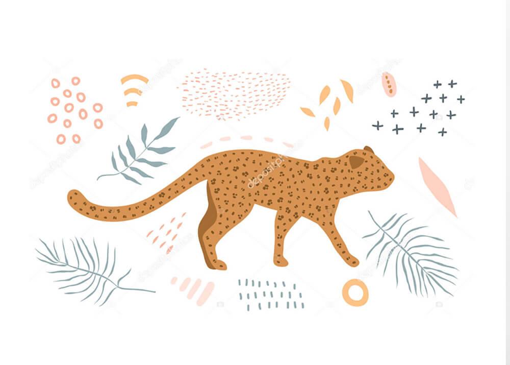 Постер Графика ягуар -1  - фото