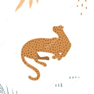 Постер Графика ягуар -2