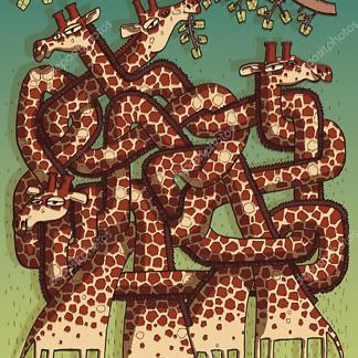 Постер Игра Жирафов в лабиринт