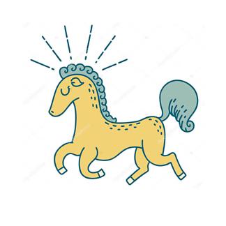 Постер Иллюстрация лошади