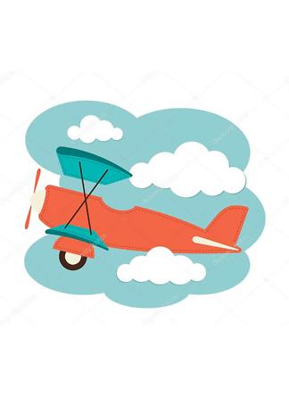 Постер Иллюстрация самолета  - фото