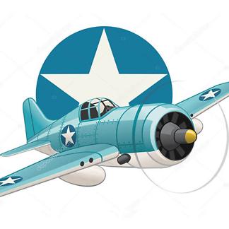 Постер Акварельные самолеты