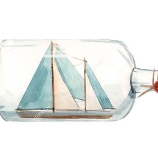 Постер Корабль в бутылке