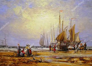 Картина Корабли и люди  - фото