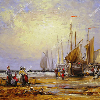 Постер Корабли и люди