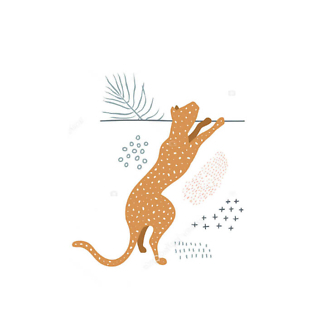 Постер Коричневый ягуар