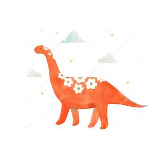 Постер Красный динозавр
